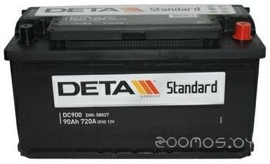 Автомобильный аккумулятор DETA Standard DC 900 L (90 А/ч)