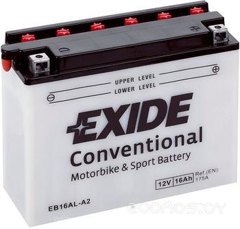Мотоциклетный аккумулятор Exide CONVENTIONAL EB16AL-A2 (16 А/ч)