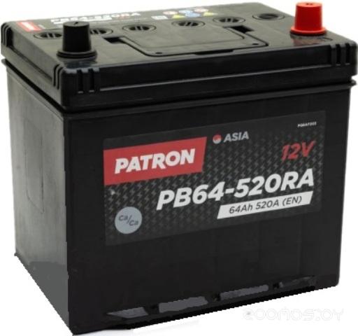 Автомобильный аккумулятор Patron PB64-520RA (64 А/ч)